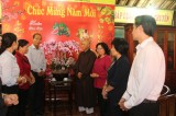 Leaders of provincial People's Council visit, congratulate Buddhist facilities, Chinese community