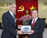 省领导会见印度驻越南大使