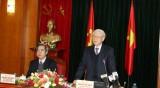 越共中央总书记阮富仲同中央经济部举行工作会议