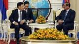 越南政府副总理兼外长范平明会见柬埔寨副首相韶肯