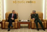 越南国防部副部长阮志咏上将会见美国驻越大使
