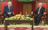 Party leader hosts Israeli President