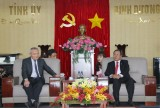 Provincial leader receives General Director of Polytex Far Eastern Vietnam Company