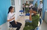 Công an huyện Phú Giáo:Làm chứng minh nhân dân tại trường cho học sinh