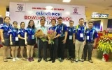 2017年全国保龄球锦标赛,平阳队获得金牌