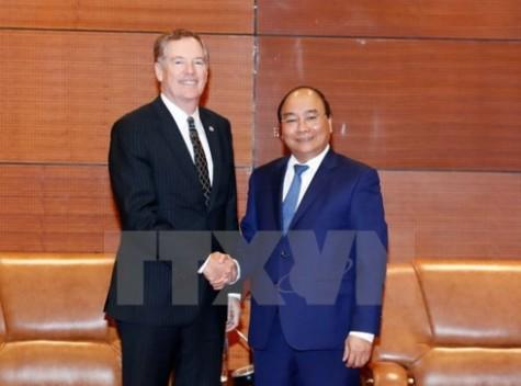 Prime Minister welcomes US trade representative