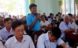 Đoàn đại biểu HĐND tỉnh và TX.Tân Uyên tiếp xúc cử tri xã Vĩnh Tân