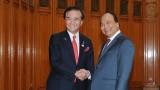 越南政府总理阮春福会见日本神奈川县知事黑岩佑治