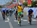 """Nguyễn Thị Thật """"vô đối"""" ở giải đua xe đạp nữ An Giang"""