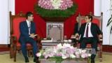越共中央组织部部长范明正会见日本首相安倍晋三特别顾问河井克行