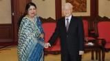 越共中央总书记阮富仲会见孟加拉国国民议会议长