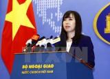 Đề nghị các bên tôn trọng quyền hợp pháp của Việt Nam ở Biển Đông