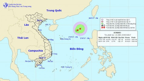 Biển Đông thêm một áp thấp nhiệt đới có khả năng thành bão
