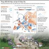 [Infographics] Thay đổi khí hậu, lũ lụt ở châu Âu trong hơn 50 năm qua