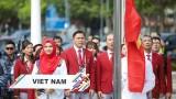 第29届东运会各国升旗仪式在马来西亚举行