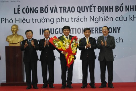 Trường Đại học Việt Đức: Công bố và trao quyết định bổ nhiệm phó hiệu trưởng