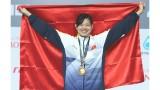 第29届东南亚运动会:越南游泳运动员阮氏映圆夺得女子100米仰泳金牌 打破东南亚运动会的纪录