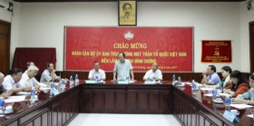 Delegation of VFF Central Committee works with Binh Duong