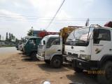 Xe tải không còn đậu tại bãi đất gần ngã 6 An Phú