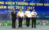 Sở Giáo dục - Đào tạo: Tuyên dương, khen thưởng học sinh giỏi năm học 2016-2017