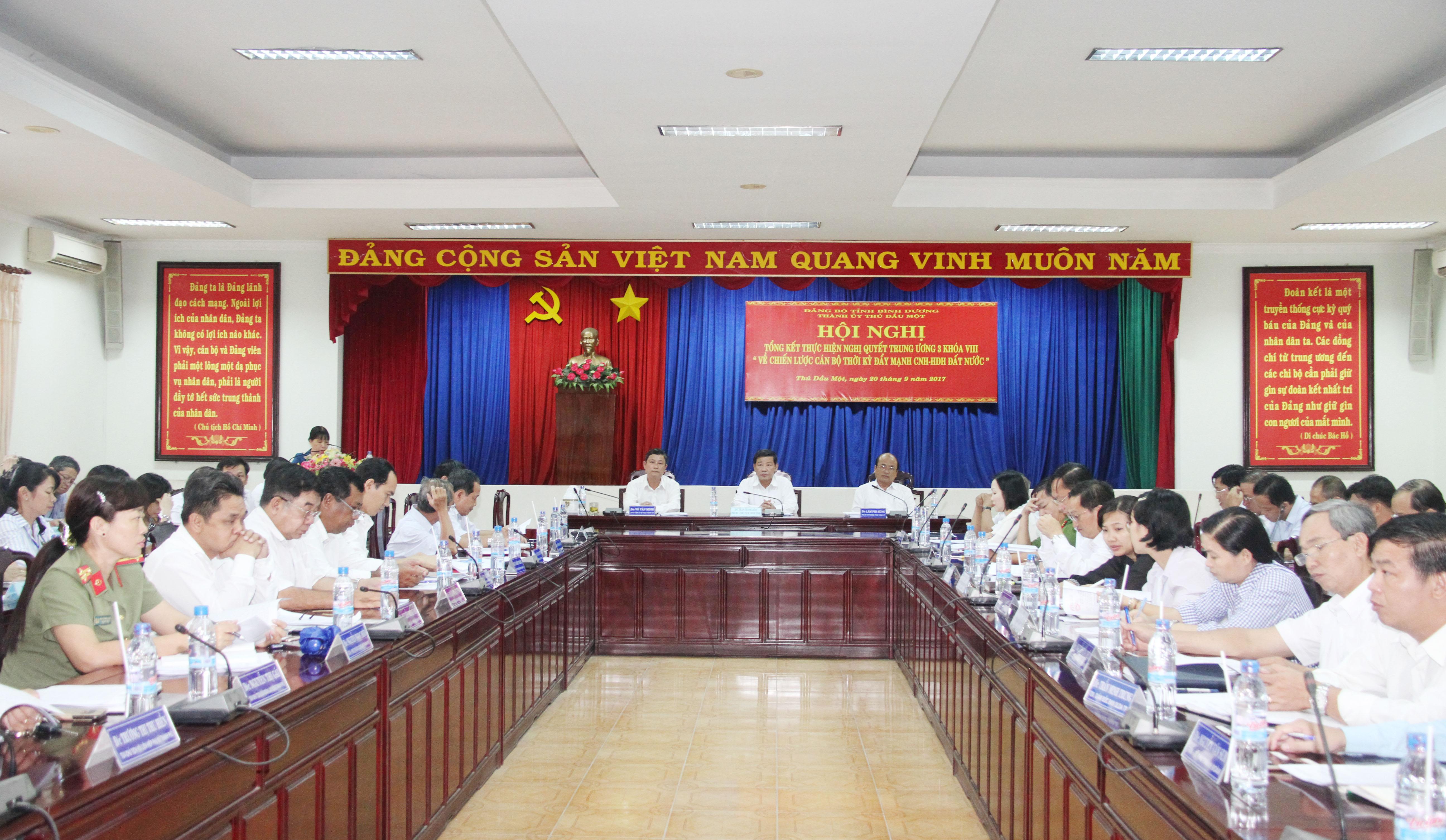 Thành ủy Thủ Dầu Một:Tổng kết thực hiện Nghị quyết Trung ương 3, khóa VIII