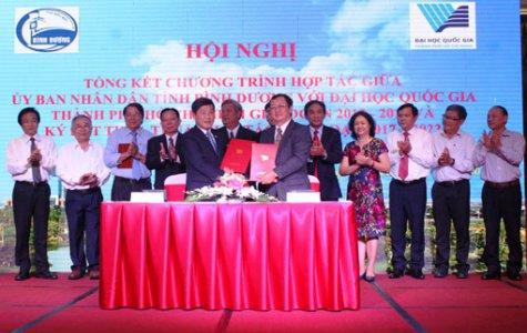 Ký kết hợp tác giữa Bình Dương và Đại học Quốc gia TP. Hồ Chí Minh