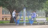 Phường Lái Thiêu, TX.Thuận An: Trang bị dụng cụ tập thể dục trong công viên phục vụ người dân