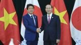 越南国家主席陈大光会见日本首相安倍晋三