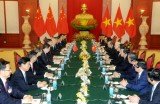 越共中央总书记阮富仲主持仪式 欢迎中共中央总书记习近平来越访问