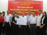 Bình Dương hỗ trợ 1 tỷ đồng cho đồng bào Quảng Ngãi bị thiệt hại do bão lũ