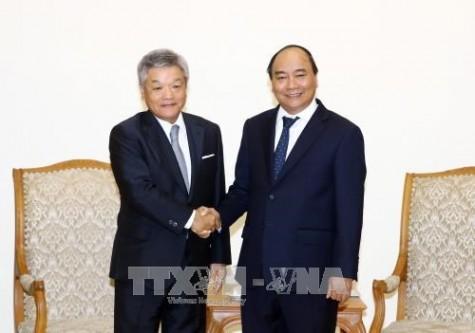 政府总理阮春福会见日经新闻社长冈田直敏