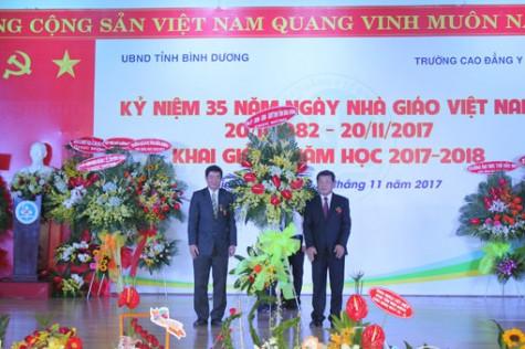 Trường Cao đẳng Y tế Bình Dương: Kỷ niệm Ngày Nhà giáo Việt Nam và khai giảng năm học mới