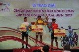 Pham Quoc Cuong wins overall yellow jersey of television cycling tourney
