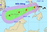 Bão Kai Tak áp sát biển Đông