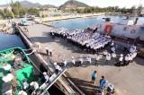 Bốn tàu vận tải rời Quân cảng Vùng 4 hải quân, đưa Tết ra Trường Sa