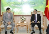 政府副总理王廷惠会见韩国韩亚金融集团董事长金正大