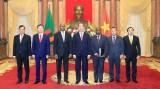 越南国家主席陈大光接受六国新任驻越大使递交国书