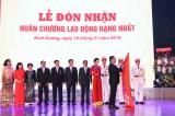 First Labor Decoration received on 40th anniversary of establishment of BIDV Binh Duong