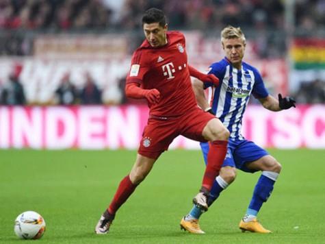 """Bóng đá CHÂU âu, Bayern Munich - Hertha BSC: Khó cản bước """"Hùm xám"""""""