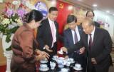 Lãnh đạo tỉnh tiếp đoàn Bộ Lễ nghi và Tôn giáo Vương quốc Campuchia