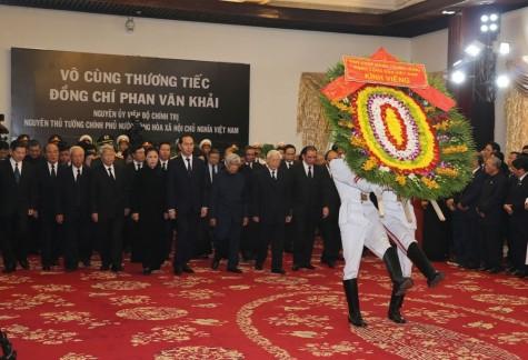 原政府总理潘文凯悼念仪式在胡志明市和河内市举行