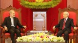 越共中央总书记阮富仲会见伊朗伊斯兰共和国议会议长阿里•拉里贾尼