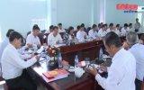 Đoàn kiểm tra Tỉnh ủy làm việc với Huyện ủy Bàu Bàng