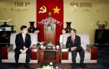 Lãnh đạo tỉnh tiếp tân Tổng Lãnh sự Hàn Quốc tại TP.Hồ Chí Minh