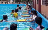 Đưa mô hình hồ bơi di động đến với trẻ em vùng xa