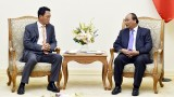 越南政府总理阮春福会见韩国新任驻越南大使金度铉