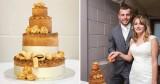 Độc đáo bánh ga-tô cưới nhân thịt heo