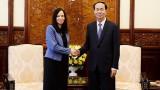 越南国家主席陈大光会见即将卸任的波兰驻越南特命全权大使