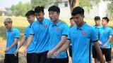 U23 Việt Nam tập thể dục trước khi ăn sáng