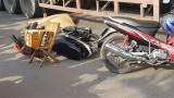 Xe container cán chết người đàn ông chạy xe máy